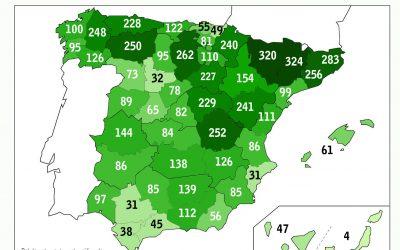 La provincia de Alicante está entre las cuatro de España con menos árboles